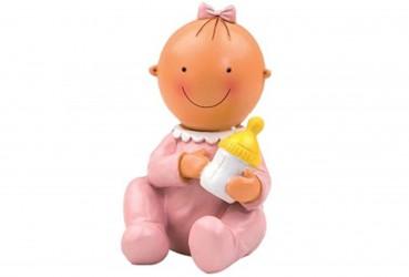 Figura pastel-hucha sentada biberón