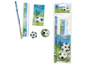 Set 5 pcs papelería fútbol regalo