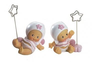 Sujeta-Targeta bebé niña rosa