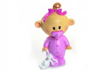 Hucha bebé chupete rosa